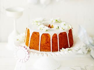 Lemon and early grey chiffon cake