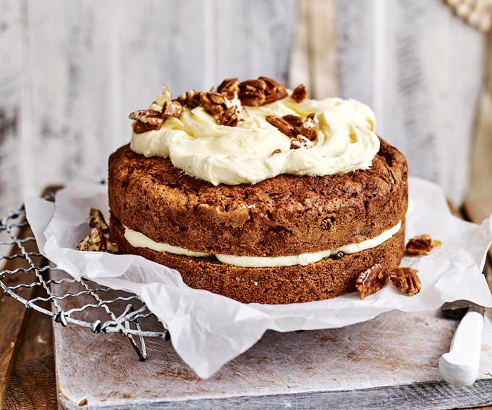 "You'll love this moist and easy [carrot cake with a silky smooth cream cheese frosting](https://www.womensweeklyfood.com.au/recipes/carrot-cake-with-lemon-cream-cheese-frosting-14856|target=""_blank"")"