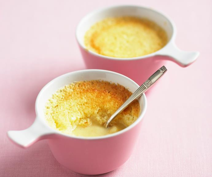 "**[Lemon delicious](https://www.womensweeklyfood.com.au/recipes/lemon-delicious-23933|target=""_blank"")**  All the bright flavours of lemon in a moist and fluffy pudding. Serve with a dollop of cream or ice-cream for a delicious after-dinner treat."