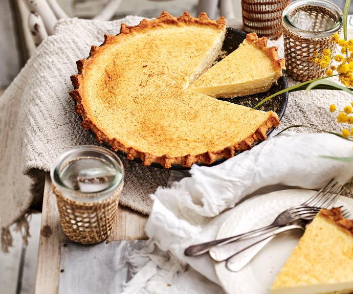 """**[Custard tart](https://www.womensweeklyfood.com.au/recipes/custard-tart-12909