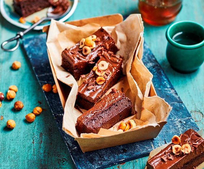 Fudgy sweet potato brownies