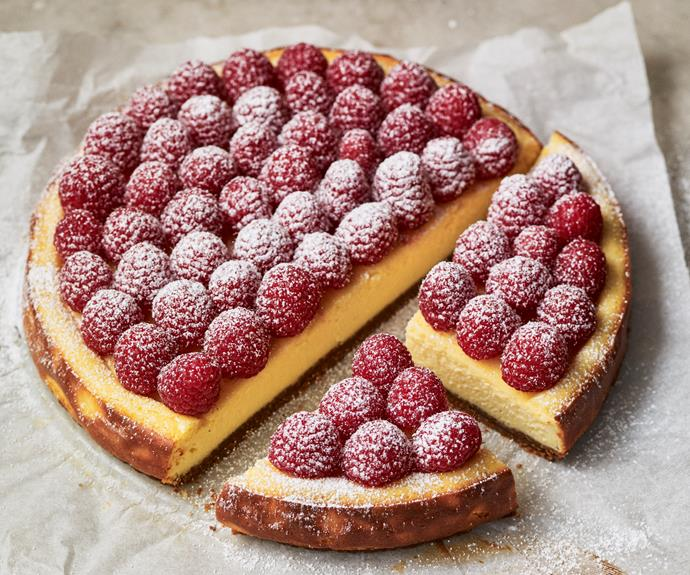 "[New York cheesecake](https://www.womensweeklyfood.com.au/recipes/gluten-free-cheesecake-31791|target=""_blank"") is known for its creamy, satiny texture. It's rich, dense and tall with a flat top – and this one is gluten-free for everyone to enjoy."