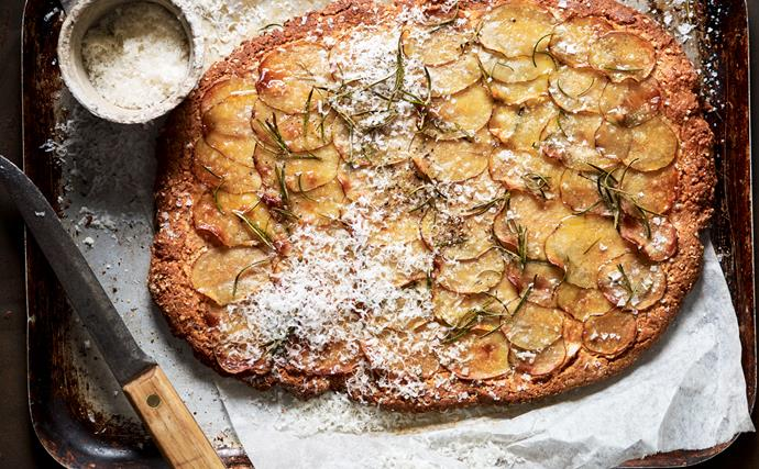 Gluten-free potato and rosemary focaccia