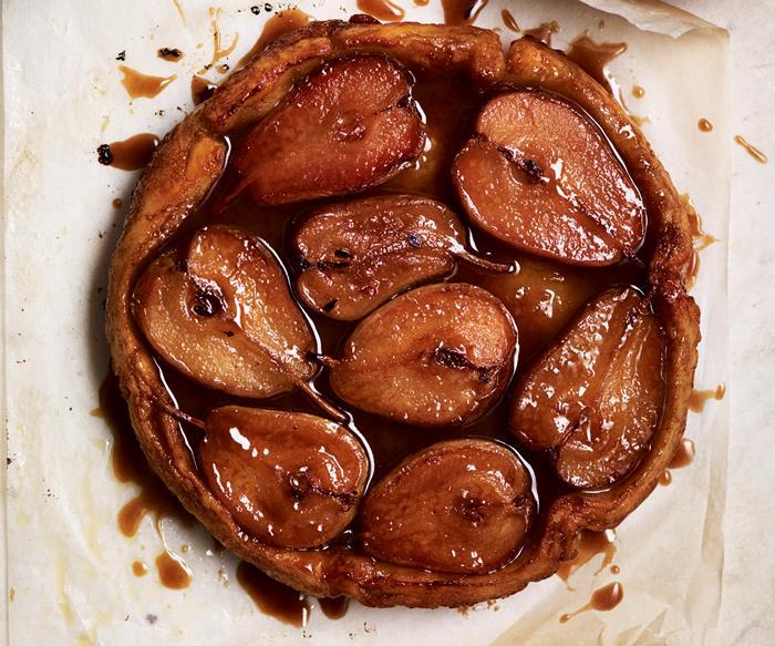 Gluten-free pear tarte tartin
