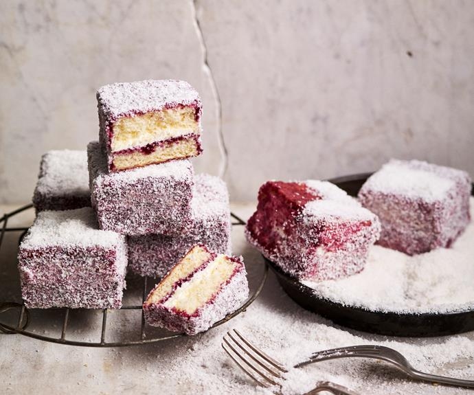 "**[Gluten-free berry lamingtons](https://www.womensweeklyfood.com.au/recipes/gluten-free-berry-lamingtons-31788|target=""_blank"")**  Not your average lamingtons, these gluten-free favourites use berry jam on the outside instead of chocolate icing."