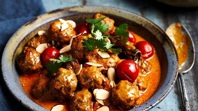 korma curry meatballs