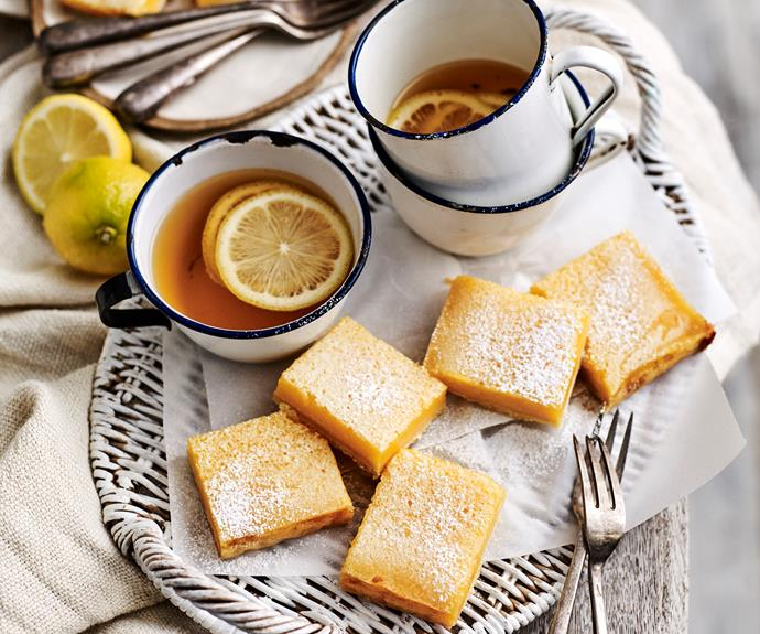 """**[Tangy lemon squares](https://www.womensweeklyfood.com.au/recipes/tangy-lemon-squares-8607