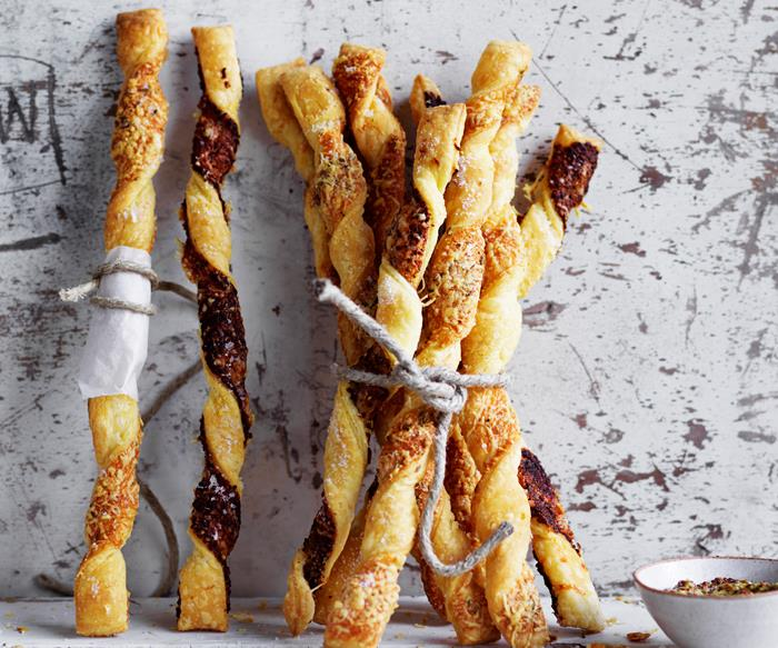 cheesy pastry twists