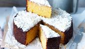 Flourless orange & white chocolate cake