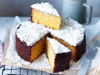 Flourless orange & white chocolate cake