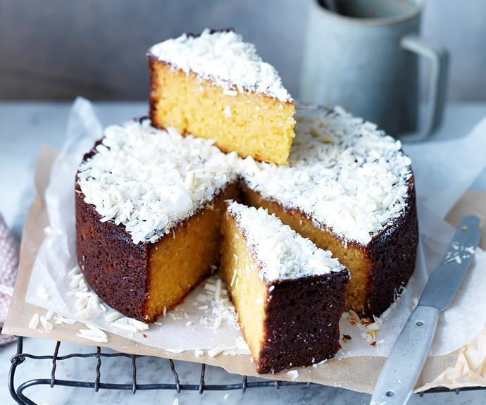 "**[Flourless orange & white chocolate cake](https://www.womensweeklyfood.com.au/recipes/flourless-orange-and-white-chocolate-cake-31909|target=""_blank"")**  Moist, dense and sweet - what more could you want in a cake?"