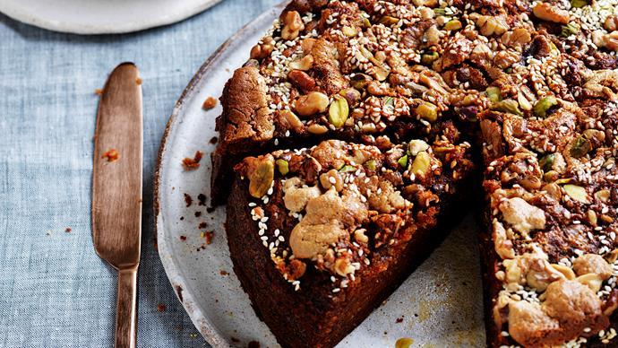 Halva, honey & carrot cake