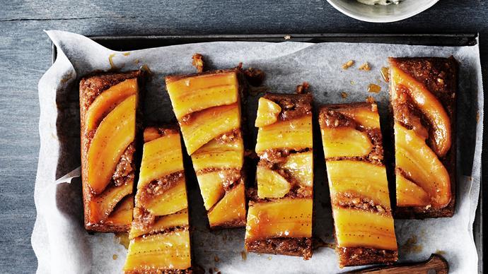 Banana & cinnamon upside-down cake