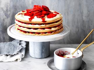 Strawberries & cream shortcake