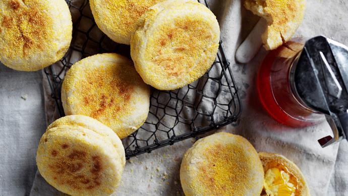 Buttermilk English muffins