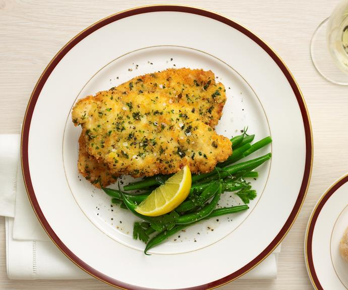 "Everyone loves a good [chicken schnitzel](https://www.womensweeklyfood.com.au/recipes/chicken-schnitzel-27759|target=""_blank"")."