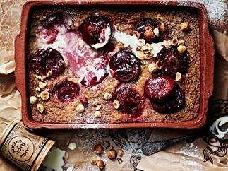 plum & hazelnut clafoutis