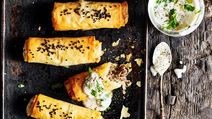 Middle-eastern beef filo cigars