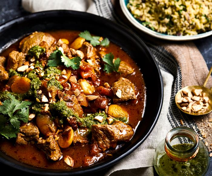 Lamb & apricot tagine with chermoula
