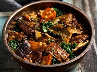 Hearty beef & barley casserole