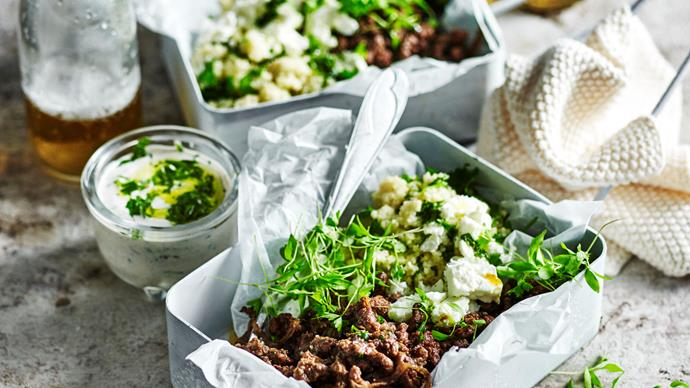 Middle-eastern beef with herb couscous