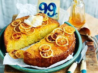 Lemon and zucchini polenta cake