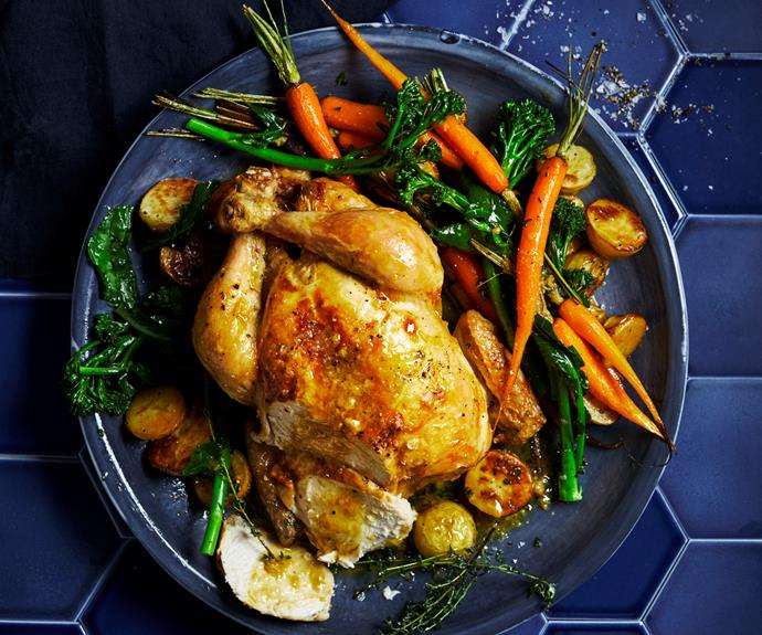 "This [classic roast chicken](https://www.womensweeklyfood.com.au/recipes/classic-roast-chicken-31988|target=""_blank"") recipe is the ideal hearty Sunday dinner."