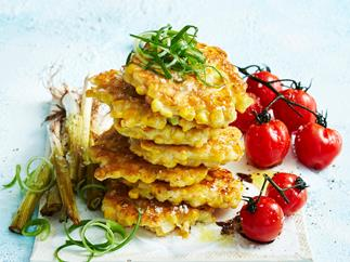 Corn & buttermilk fritters