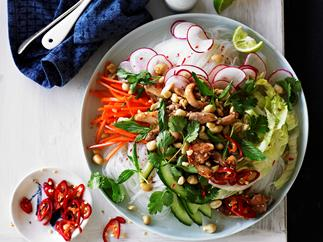 lemon grass chicken with vermicelli salad