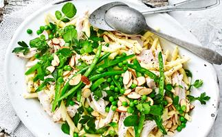chicken &watercress pasta salad