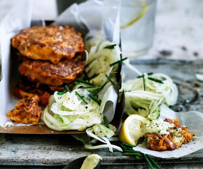 """**[Smoky tomato & bacon fritters](https://www.womensweeklyfood.com.au/recipes/smoky-tomato-and-bacon-fritters-32062