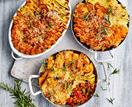 Vegetable & lentil pot pies
