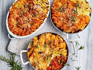 Vegetable & lentil pot pies