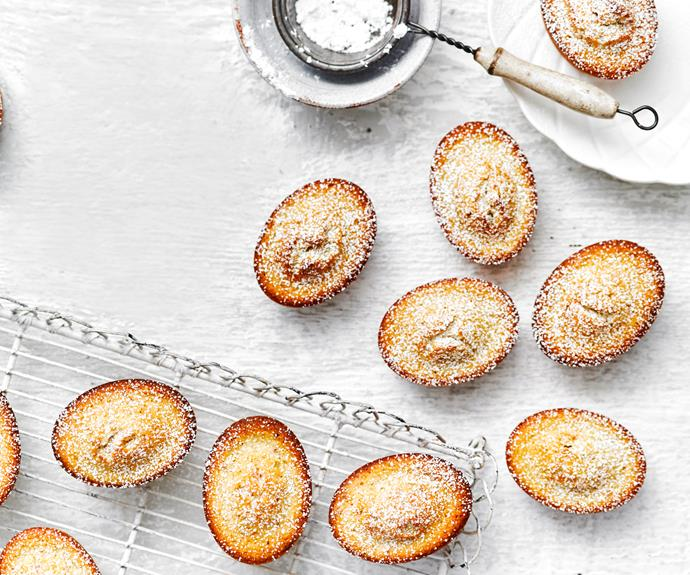 """**[Almond friands](https://www.womensweeklyfood.com.au/recipes/almond-friands-5880