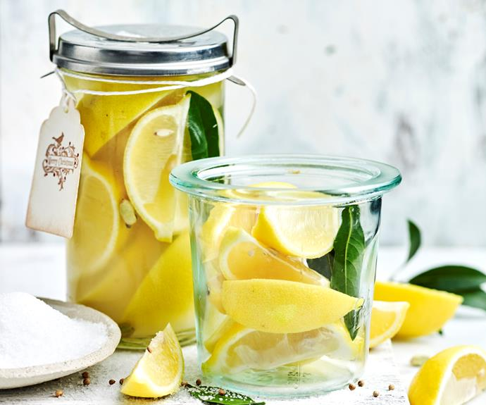 "**[How to make preserved lemons](https://www.womensweeklyfood.com.au/recipes/preserved-lemons-1-17321|target=""_blank"")**  Jars of preserved lemons make an excellent home-made gift, as well as being a great thing to have in your own pantry for North African cooking needs."