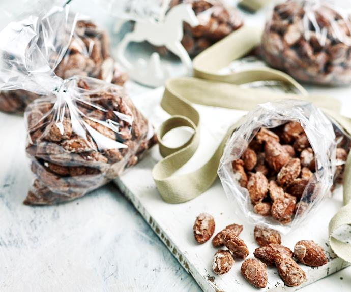"**[Sugar and spice almonds](https://www.womensweeklyfood.com.au/recipes/sugar-and-spice-almonds-26632|target=""_blank"")**  Create the perfect little snack in no time at all with just three ingredients: icing sugar, cinnamon and all the almonds you can eat."