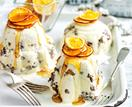 Christmas pudding ice-cream bombes