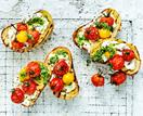 Cherry tomato and goats cheese bruschetta