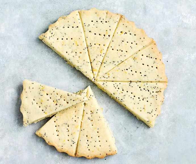 "**[Lemon and poppyseed shortbread](https://www.womensweeklyfood.com.au/recipes/lemon-and-poppyseed-shortbread-32114|target=""_blank"")**"
