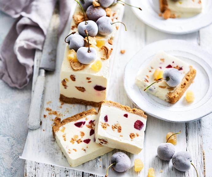 """**[Cherry and amaretti white Christmas log](https://www.womensweeklyfood.com.au/recipes/cherry-and-amaretti-white-christmas-log-32126
