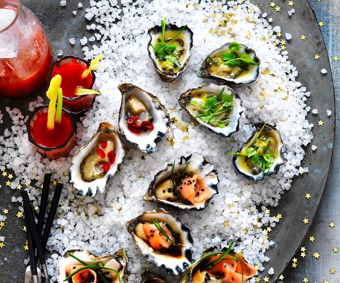 Oysters three ways