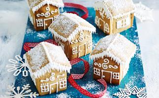 Gluten-free mini gingerbread houses
