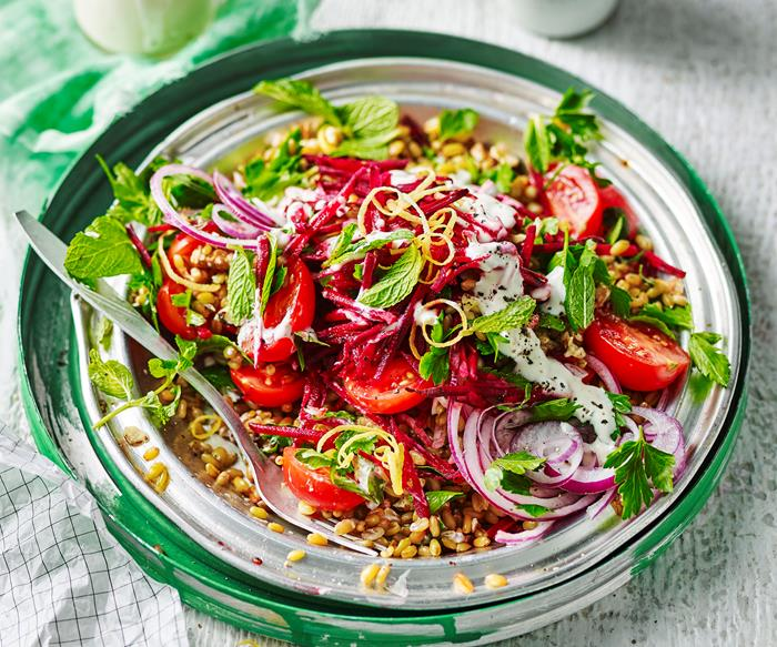 Freekeh tabbouleh beetroot