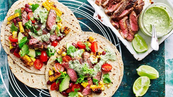 Mexican beef corn salad