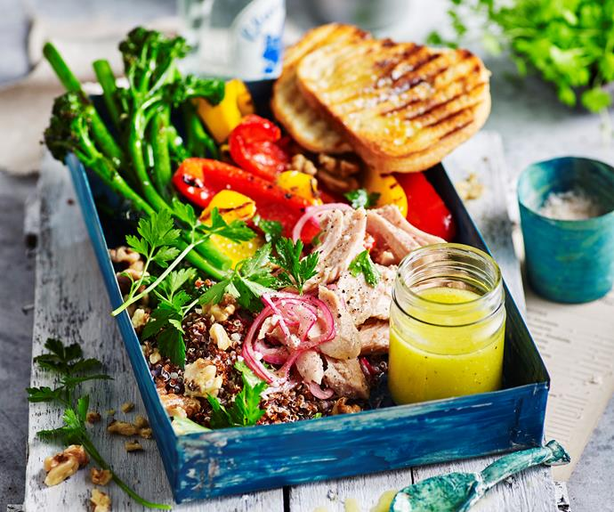 """**[Smoked tuna and quinoa salad with broccolini](https://www.womensweeklyfood.com.au/recipes/smoked-tuna-and-quinoa-salad-32193