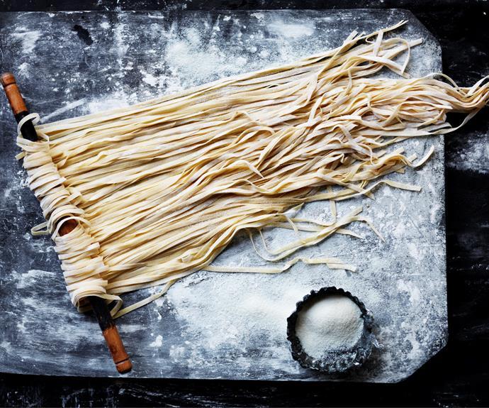 "**[Fresh pasta](https://www.womensweeklyfood.com.au/recipes/fresh-pasta-13555|target=""_blank"")**"