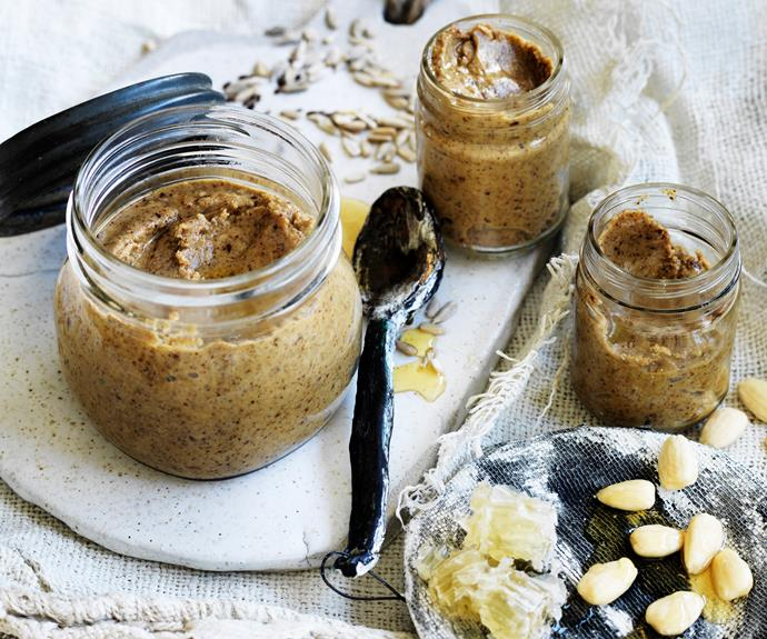 """**[Smooth nut and seed butter](https://www.womensweeklyfood.com.au/recipes/seed-and-nut-butter-32208