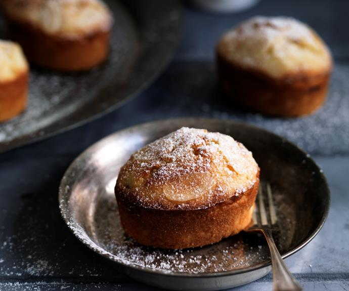 """**[Pear and almond friands](https://www.womensweeklyfood.com.au/recipes/pear-and-almond-friands-5208