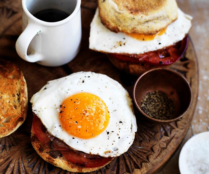 """**[Tomato and egg muffin](https://www.womensweeklyfood.com.au/recipes/tomato-and-egg-muffin-11157