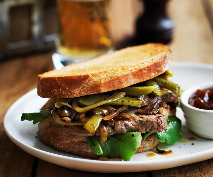 """**[Minute-steak sandwiches](https://www.womensweeklyfood.com.au/recipes/minute-steak-sandwiches-2991 target=""""_blank"""")**  Ready in a flash."""